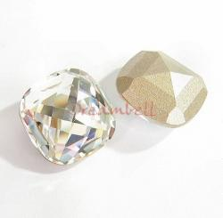 2 Swarovski Elements 4461 Crystal 16mm Classic Square Cabochon Clear